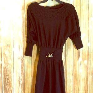 Laundry by shelli segal designer crotchet dress M